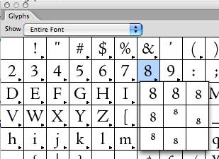 OpenType in Glyphs