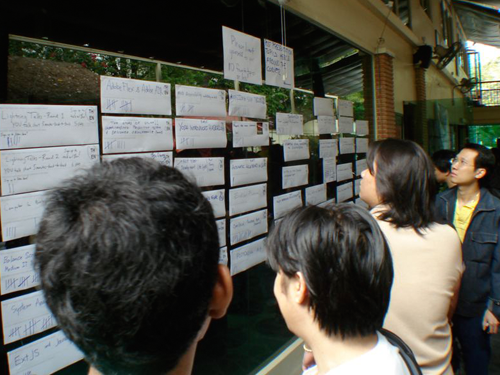 barcamp bangkok 2008 vote the topic