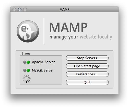 MAMP start window